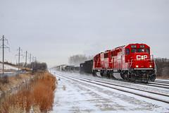 Snowy Standard Cabs (SantaFe669) Tags: canadianpacific sd30ceco trains sd60 railfanning railroads diesellocomotives locomotives snow