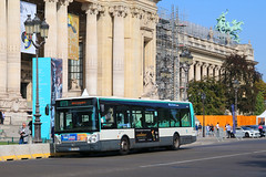 BE-791-CV, Grand Palais, Paris, September 14th 2019 (Southsea_Matt) Tags: route84 paris france september autumn 2019 canon 80d sigma 1850mm bus omnibus transport vehicle ratp garedunord petitpalais irisbus citelis be791cv 5149