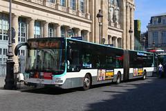 BN-204-DK, Gare Du Nord, Paris, September 14th 2019 (Southsea_Matt) Tags: route26 paris france september autumn 2019 canon 80d sigma 1850mm bus omnibus transport vehicle ratp garedunord ruededunkerque man lionscity bn204dk 4698 bendybus