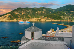 Two monuments in danger at Skopelos (Dimitil) Tags: skopelos chapel christianism church heritage island orthodoxy preservablesettlement sporades touristattractions tradition traditionalsettlement sea seascape boat