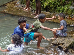 Family in the Water (mikecogh) Tags: colisuva fiji pool natural forest family swimming children activity healthy