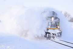 Blasting through the snow (wc_sd45_7500) Tags: cp canadian pacific sd70acu veteran unit dday 6644 snow trains snowing plow sd457500 railroad railoads freight train paynesville sub minnesota kimball