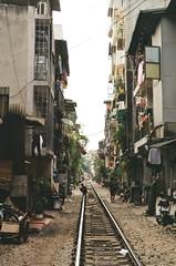 Hanoi Train Street (michellekwong.) Tags: vietnam hanoi railroad