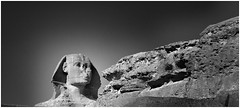 THE MIGHTY SPHINX, GIZA, EGYPT (deepfoto) Tags: panasonic egypt bw