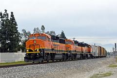Pasadena Local on MLK Day (GRNDMND) Tags: trains railroads bnsf locomotive emd gp60m pasadenalocal upland california