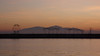 Thessaloniki - port sunset, breakwater, Mt Olympus