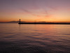 Thessaloniki - port sunset, breakwater Mt Olympus (4)