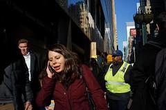 Phone (dtanist) Tags: nyc newyork newyorkcity new york city sony a7 7artisans 35mm manhattan midtown east grand central lexington avenue pedestrian phone woman