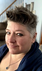 Day 341 of Year 10- my face (Pahz) Tags: 365days selfportrait year10 over40 thisis50 pixiecut grayhair greyhair