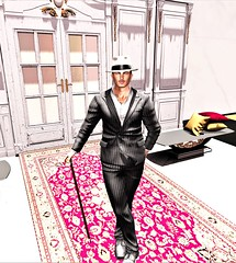 """"""" Life isn't perfect, but your outfit can be """" (maka_orionsl) Tags: avatar avi art artist secondlife sl screenshot snap snapshot game gaming games virtual videogame videogames style fashion backdrop backdropcity photography portrait photo picture pose pic posing suit elegant dapper"""