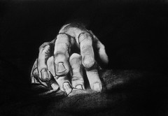 CONSUMMATION (Sketchbook0918) Tags: love consummation concept charcoal drawing paper bedding hands fingers gestural marriage commitment