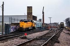 Alpha Baking (BravoDelta1999) Tags: unionpacific up railroad chicagoandnorthwestern cnw railway skokiesubdivision cragin industrial lead chicago illinois emd gp402 1430 yno68 manifest train alpha baking