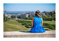 Parque Eduardo VII, Lisboa (Sr. Cordeiro) Tags: parqueeduardovii lisboa lisbon portugal parque park vista view azul blue vestido dress olympus stylus1s