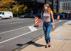 Eyes Ahead (ViewFromTheStreet) Tags: allrightsreserved blick blickcalle blickcallevfts calle copyright2019 market marketstreet marketstreetbridge pennsylvania philadelphia photography stphotographia streetphoto streetphotography viewfromthestreet amazing backpack beauty bridge candid cell classic denim earbuds female girl jeans midriff mobile phone pretty profile street vftsviewfromthestreet woman ©blickcallevfts ©copyright2019blickcalle