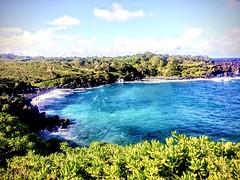 Wonders of the sea (wjaachau) Tags: hawaii maui beach ocean waves cliff surf nature seascape blue trees rock fish sunshine seashells swimming wind coastal breeze sunbathing