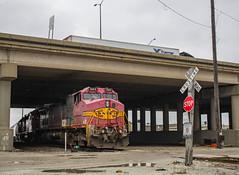 Under The Overpass (SantaFe669) Tags: bnsf santaferailway trains c449w gp393 sd402 railfanning diesellocomotives locomotives railroads
