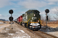 Splitfire (Carlos Ferran) Tags: cp canadian pacific ns norfolk southern 66t emd sd70acu 6644 spitfire heritage world war 2 pennsylvania pl signal signals train trains railroad railway rails locomotive north robinson ohio oh cfe