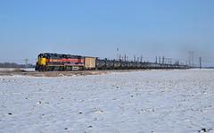Cars for Storage (Jacob Narup) Tags: iais iowainterstate iowainterstaterailroad train trains railfan railroad railfanning snow iaisiowacitysub walcott walcottia walcottiowa iowa iais705 iais513 gp382