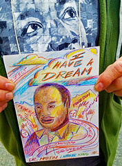 Dreamer, Hero for Justice and Human RIghts (moonjazz) Tags: freedom march justice compassion hero brave humanrights mlk civilrights martinlutherking people usa love race america children education africanamerican change leader dignity struggle equality nonviolence unitedstate man angel peace ideas dreamer sacrifice history famous important wise inspiring art ihaveadream blackhistory