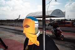 * (Sakulchai Sikitikul) Tags: street snap streetphotography summicron songkhla sony a7s 35mm leica thailand hatyai racing flash motorcycle mask