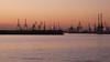 Thessaloniki - port sunset, cranes (2)