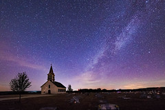 _8102395 Redone Completely Dehaze Lightened Sharpened (1 of 1).jpg (M K Gill) Tags: countryliving countrytexas country countrychurch ruraltexas texas cemetary nightdky milkyway nightphotography stars night church starscape