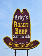 IL, Galesburg-U.S. 150 Arby's Big Hat Neon Sign