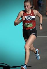 Left & Right Hemisphere (Scott 97006) Tags: woman female lady athlete running racing shorts tanktop street