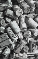 Blair Goerz Wine Corks (rrunnertexas) Tags: blair 5 x 7 5x7 bw blackandwhite winecorks corks wine bottle vintagecamera goerz goerzlens dagor closeup arista edu 100 film