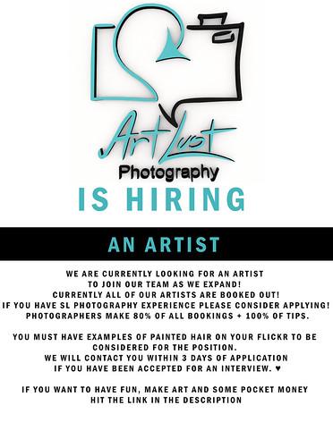 Now Hiring Artists