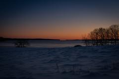 0 Degree Sunset (pilot.henry) Tags: midcoast maine bay harbor sunset blue orange winter snow ice sky drift drifts evening night penninsula
