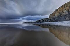 Straight to you (pauldunn52) Tags: beach reflection traeth mawr glamorgan heritage coast wales