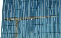 Crane reflections (Ian Robin Jackson) Tags: crane building aberdeen scotland colour