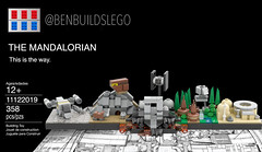 "Lego Star Wars - ""The Mandalorian"" Skyline MOC (Box) (BenBuildsLego) Tags: mandalorian baby yoda lego legos benbuildslego skyline architecture disney plus tv show afol moc micro microscale razorcrest razor crest space ship tatooine sandcrawler tie fighter brick bricks toy toys cool design atst"