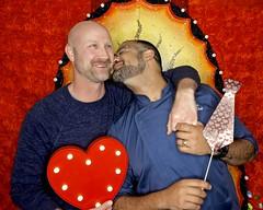 DSCN8772 (danimaniacs) Tags: valentinesday portrait man guy smile beard scruff kiss gay couple colorful