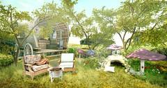Awakened in warm green ♥ (Kumomi) Tags: landscapingbyfelix littlebranch uber chezmoifurniture cosmopolitan tmcreation swank trompeloeil collabor88 raindale