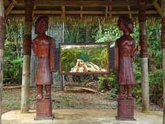 Queen's Commonwealth Canopy (mikecogh) Tags: colisuva fiji forest sculptures queenscommonwealthcanopy shelter hut wooden