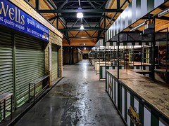 Accrington Market at night (Tony Worrall) Tags: welovethenorth nw northwest north update place location uk england visit area attraction open stream tour country item greatbritain britain english british gb capture buy stock sell sale outside outdoors caught photo shoot shot picture captured ilobsterit instragram market night empty closed stalls dim lit lines shapes accrington lancashire