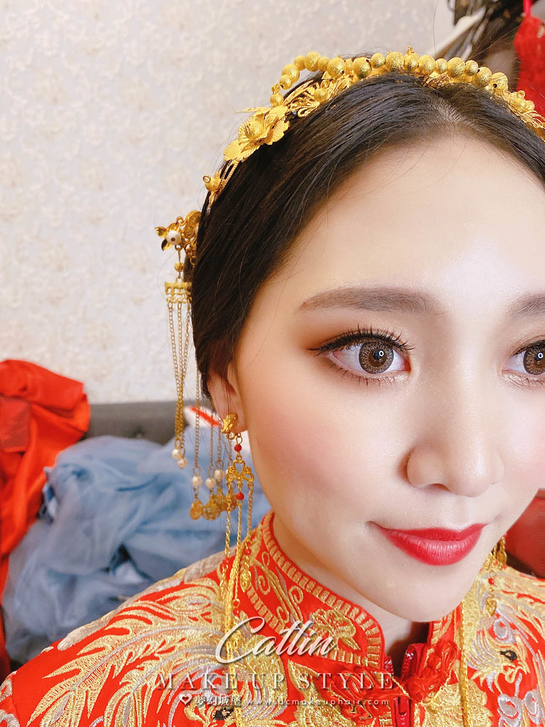【新秘Catlin 】bride 楚君 結婚造型 / 韓系公主,龍鳳掛