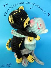 Cathy et Johnny (mmarple62) Tags: amineko tricot smallknittedanimals chat cat laine yarn