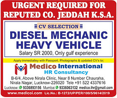 URGENT REQUIRED FOR REPUTED CO. JEDDAH K.S.A E CV SELECTIONE DIESEL MECHANIC HEAVY VEHICLE (gmumbai.1) Tags: urgent required for reputed co jeddah ksa e cv selectione diesel mechanic heavy vehicle httpwwwgulfagentmumbaiin202001urgentrequiredforreputedcojeddahhtmlurgent forreputed ksae selectionediesel mechanicheavy vehiclesalary sr 2000 only gulf experienceapply immediatley with passport photographs updated cvs tomedico internationalhr consultancyb64 above nirala clinic near 8 number chaurahanirala nagar lucknow226020 tele 91 522 4337616lucknow 9336893156 mumbai 9336063132 medicoihrgmailcomwwwmedicoicom licno b1272upper100596142019https1bpblogspotcomxfj1arpkwixiam9hxwfuiaaaaaaaaalyfwb9glf4n0h3srimftyfewzcr90ozwclcbgasyhqs32020200121112229jpg january 21 2020 1253pm