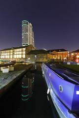 Leeds By Night (Yorkshire Pics) Tags: bridgewaterplace mooring moored narrowboat boat barge leedscanal granarywharf 2101 21012020 21stjanuary 21stjanuary2020