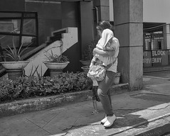 Mother and children (Beegee49) Tags: street people woman filipina mother carrying baby blackandwhite monochrome sony bw a6400 bacolod city philippines asia