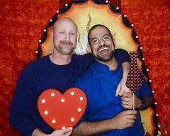 DSCN8770 (danimaniacs) Tags: valentinesday portrait man guy smile beard scruff gay couple colorful