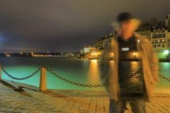 Radiographie (jpbordais) Tags: pose portrait dinard mer nuit homme surprenant nocturne sea night man long exposure