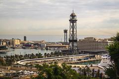 Spain - Barcelona - Views from Montjuic (Marcial Bernabeu) Tags: marc marcial bernabeu bernabéu europe europa mediterranean sea mar mediterraneo mediterráneo spain españa cataluña catalunya catalonia barcelona montjuic puerto harbor harbour views vistas