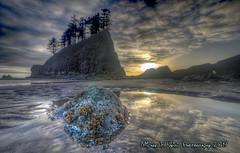 Tidepool at Sundown (Michael F. Nyiri) Tags: secondbeach lapush washingtonstate beach tidepools sunset colorful reflection