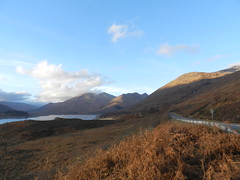 Loch Cluanie, Highlands of Scotland, Dec 2019 (allanmaciver) Tags: shades shadows colours loch cluanie highlands mountains five sisiters kintail roadside ble sky clouds allanmaciver