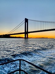 (yiorgosnj) Tags: nyc verrazano bridge sunrise ferry boat