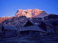 Debeli vrh from Laz meadow (Vid Pogacnik) Tags: slovenia slovenija outdoors outside julianalps bohinj laz alpinemeadow debelivrh morning glow hiking landscape